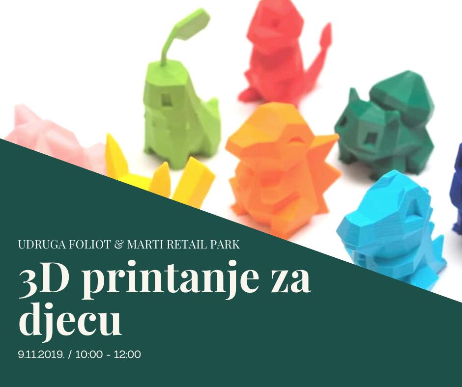 Radionica 3D Printanja u subotu 09.11.2019.