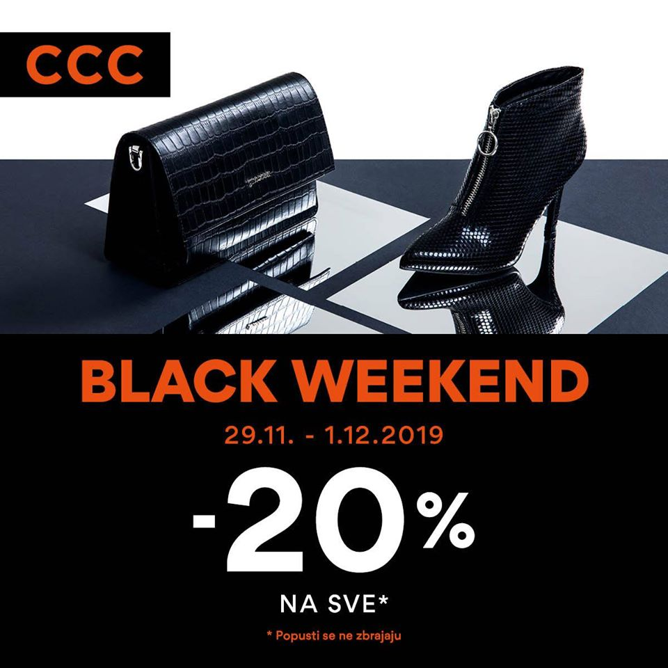 CCC  Black FRIDAY sve -20% do 01.12.2019.