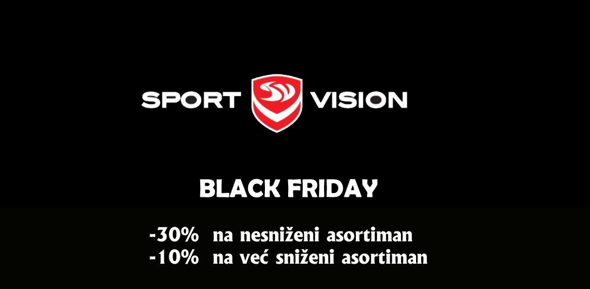 Sport Vision – 29.11.2019. Black Friday  – 30%