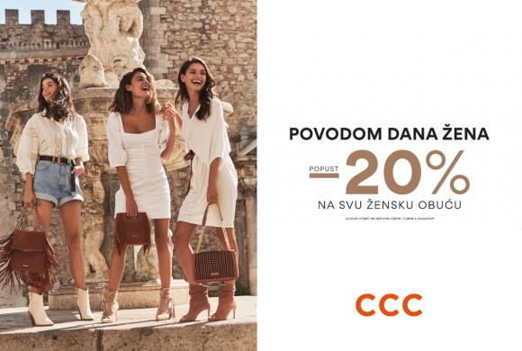 CCC povodom Dana žena daruje -20% na svu žensku odjeću