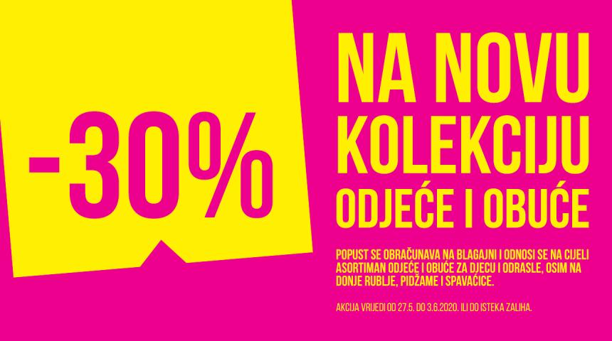PEPCO 30% na novu kolekciju do 03.06.2020.