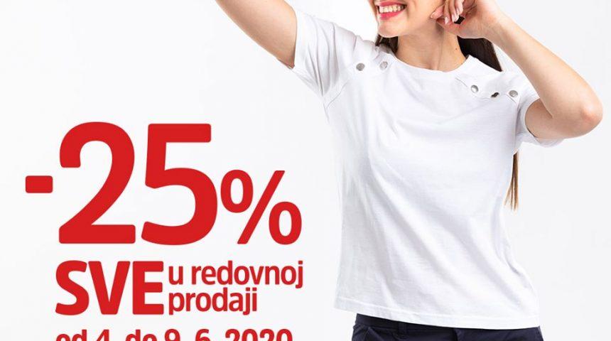 Mana 25% popust na sve u redovnoj prodaji do 09.06.2020.