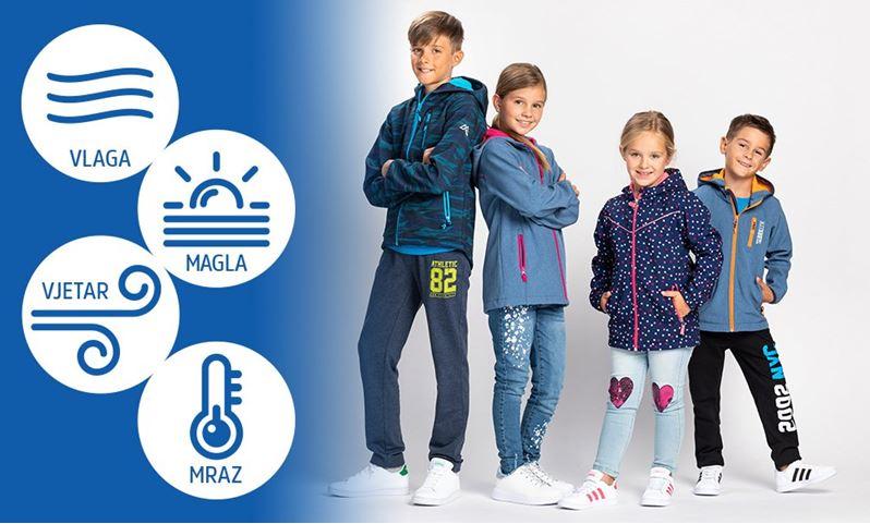 Windstoper jakne za djecu u trgovini MANA za samo 124 kn za odrasle 199 kn
