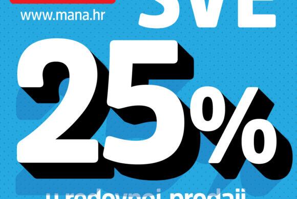 MANA vikend akcija 25% popusta