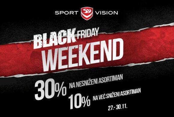 Sport Vision Black Weekend – 30% na nnesniženi asortiman i 10% na sniženi