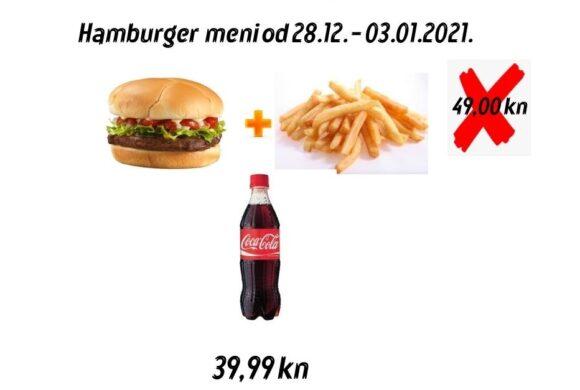 Promocija _ Fast food Bamboo do 03.01.2021. gradis Cola uz burger meni