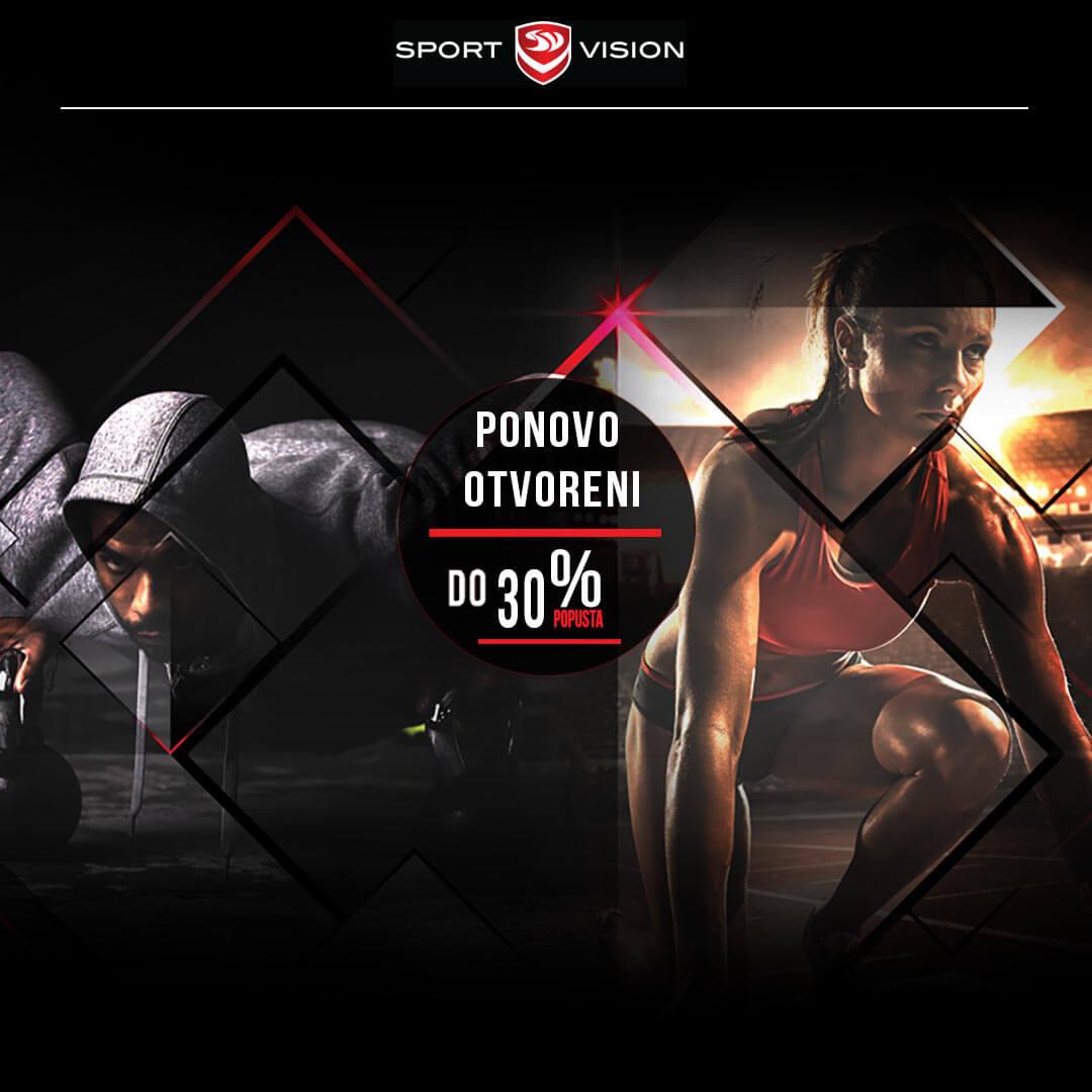 Sport Vision akcija povodom  ponovnog otvorenja trgovina odjećom i obućom