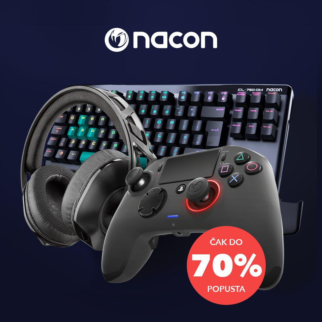 Uštedi do nevjerojatnih 70% i dominiraj igrom uz svoju novu Nacon gaming opremu! Akcija traje u Sancta Domenica do 31.8. 2021.
