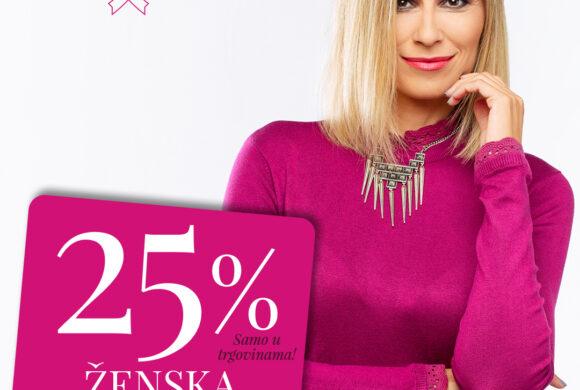 U trgovini MANA 25% POPUSTA na svu žensku odjeću do 17.10.